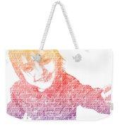 Typography Portrait Childhood Wonder Weekender Tote Bag by Nikki Marie Smith