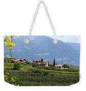 Tyrolean Alps And Vineyard Weekender Tote Bag