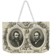Ulyssess S Grant And Schuyler Colfax Republican Campaign Poster Weekender Tote Bag