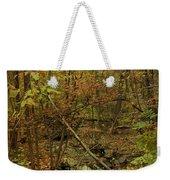 Unami Creek Feeder Stream In Autumn - Green Lane Pa Weekender Tote Bag