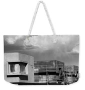 Under Construction Bw Palm Springs Weekender Tote Bag