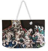Unicorn In Sea Below Castle Weekender Tote Bag by Carol Law Conklin