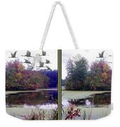 Unicorn Lake - Cross Your Eyes And Focus On The Middle Image Weekender Tote Bag