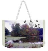Unicorn Lake - Geese Weekender Tote Bag