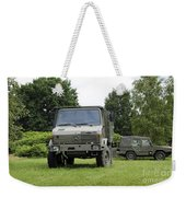 Unimog Truck Of The Belgian Army Weekender Tote Bag by Luc De Jaeger
