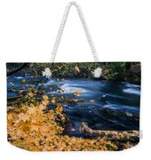 Union Creek In Autumn Weekender Tote Bag