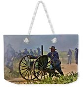 Union Gatling Gun Fire Weekender Tote Bag