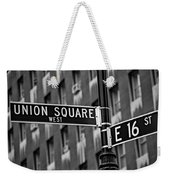 Union Square West Weekender Tote Bag by Susan Candelario