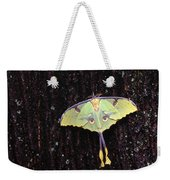 Unique Butterfly Resting On Tree Bark Weekender Tote Bag