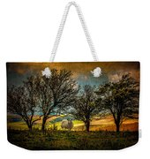 Up On The Sussex Downs In Autumn Weekender Tote Bag