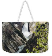 Upper Falls Of The Yellowstone River Weekender Tote Bag