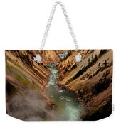 Upper Yellowstone Falls Weekender Tote Bag