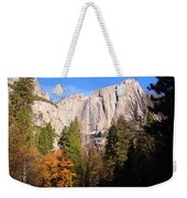 Upper Yosemite Falls In Autumn Weekender Tote Bag