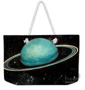 Uranus With Its Rings Weekender Tote Bag