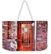 Urban Door In Old Brick Building Weekender Tote Bag
