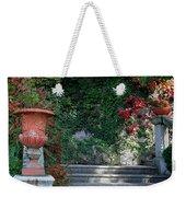 Urn And Steps At A Villa On Lake Como Weekender Tote Bag