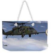 U.s. Air Force Hh-60 Pave Hawks Conduct Weekender Tote Bag