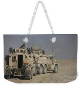 U.s. Army Cougar Mrap Vehicles Weekender Tote Bag