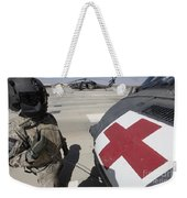 U.s. Army Crew Chief Inspects Weekender Tote Bag