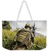 U.s. Army Mk48 Machine Gunner Patrols Weekender Tote Bag