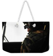 U.s. Army Officer Speaks To A Pilot Weekender Tote Bag