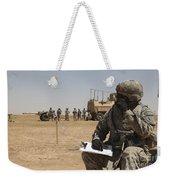 U.s. Army Radio Operator Communicates Weekender Tote Bag