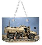 U.s. Army Sergeant Refuels A Caiman Weekender Tote Bag