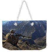 U.s. Army Sniper Provides Security Weekender Tote Bag