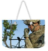 U.s. Army Soldier Calls For Indirect Weekender Tote Bag