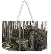 U.s. Army Soldier Communicates Possible Weekender Tote Bag