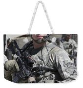 U.s. Army Soldier Conducts A Combat Weekender Tote Bag