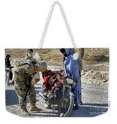 U.s. Army Soldier Conducts Vehicle Weekender Tote Bag