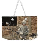 U.s. Army Soldier Configures Weekender Tote Bag