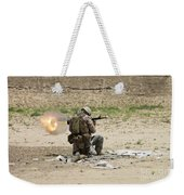 U.s. Army Soldier Fires Weekender Tote Bag