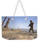 U.s. Army Soldier On A Foot Patrol Weekender Tote Bag