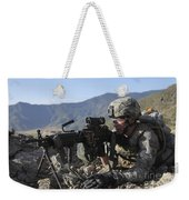 U.s. Army Soldier Provides Overwatch Weekender Tote Bag