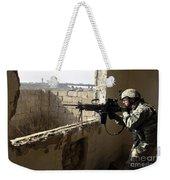 U.s. Army Soldier Searching Weekender Tote Bag