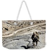 U.s. Army Soldiers And Afghan Border Weekender Tote Bag