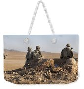 U.s. Army Soldiers At A Checkpoint Weekender Tote Bag