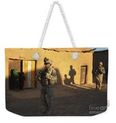 U.s. Army Soldiers Conduct A Dismounted Weekender Tote Bag