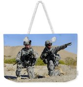 U.s. Army Soldiers Familiarize Weekender Tote Bag