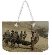 U.s. Army Soldiers Medically Evacuate Weekender Tote Bag