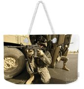 U.s. Army Soldiers Providing Overwatch Weekender Tote Bag