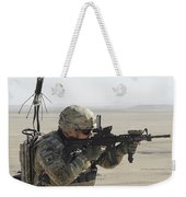 U.s. Army Specialist Scans His Area Weekender Tote Bag