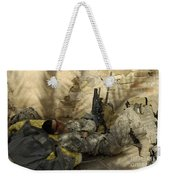 U.s. Army Specialist Takes A Nap Weekender Tote Bag