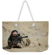 U.s. Contractor Sights In A Barrett Weekender Tote Bag