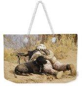 U.s. Marine And A Military Working Dog Weekender Tote Bag