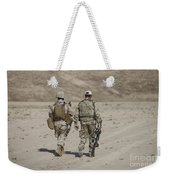 U.s. Marine And German Soldier Walk Weekender Tote Bag