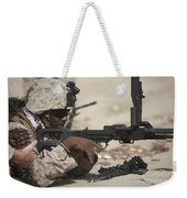U.s. Marine Clears The Feed Tray Weekender Tote Bag