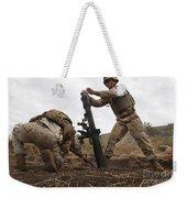 U.s. Marine Drops A Mortar Round Weekender Tote Bag